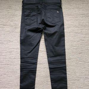 Rag & Bone Black Waxed Skinny Jeans